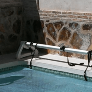 roll over roll-up station for pool covers