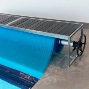 our pool cover roll-up stations make covering and opening your pool quick and easy